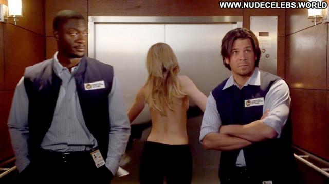 Beth Riesgraf Leverage Celebrity Elevator Babe Black Posing Hot