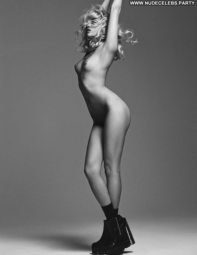 Charlotte Carey Black And White Nude Wild Black Posing Hot Magazine