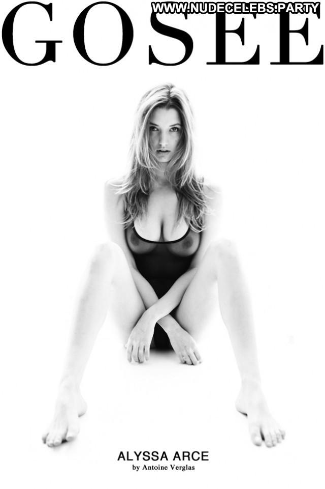 Alyssa Arce Black And White Boobs Big Boobs Posing Hot Black Magazine