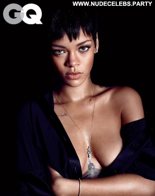 Rihanna Photo Shoot Topless Posing Hot Sultry Black Stunning