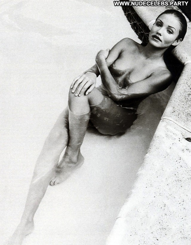 Cameron Diaz Black And White Hot Sultry Black Nude Pretty Celebrity