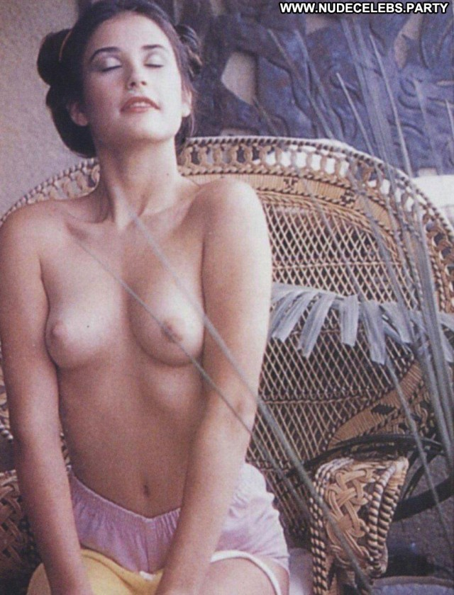 Demi Moore Photo Shoot Celebrity Posing Hot Retro Cute Nude Bush