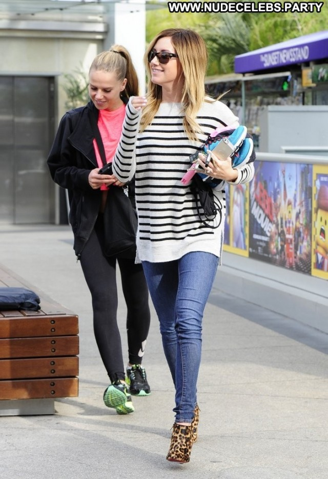 Ashley Tisdale West Hollywood Sultry Gorgeous Celebrity Gym Hollywood