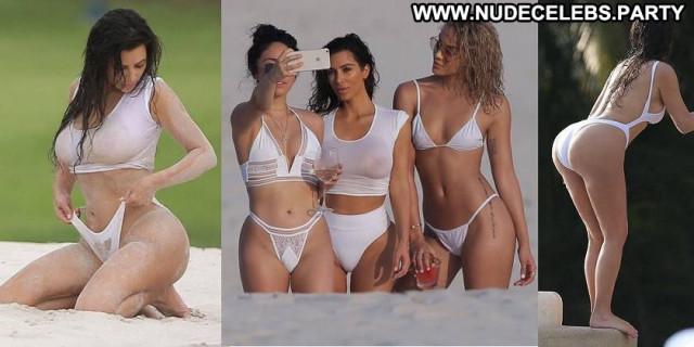 Kim Kardashian No Source Wet Celebrity Babe Shirt Candids Beautiful
