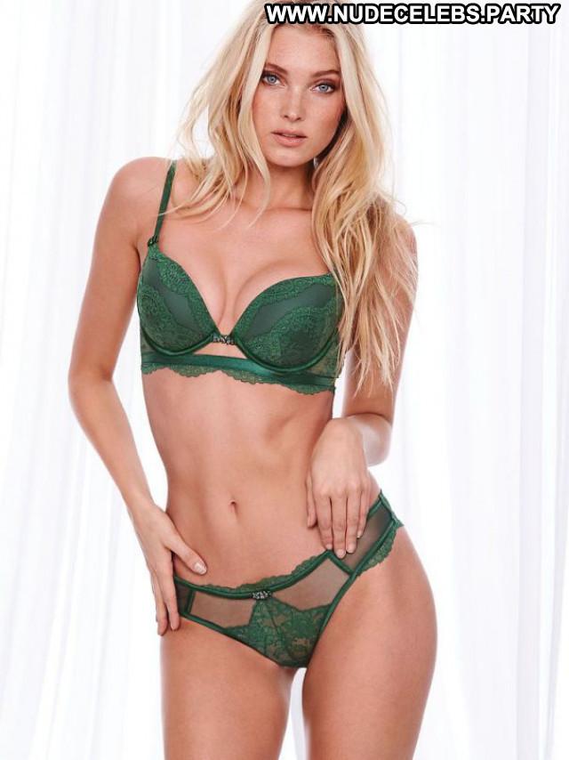 Elsa Hosk No Source Lingerie Babe Celebrity Bikini Beautiful Posing