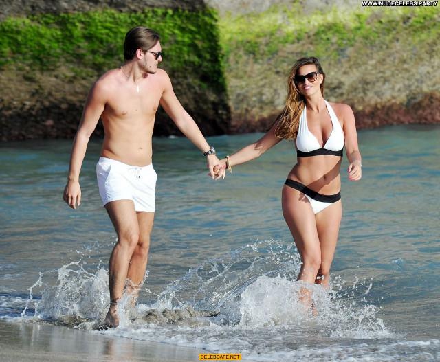 Ferne Mccann The Beach Bikini Celebrity Beach Posing Hot Beautiful
