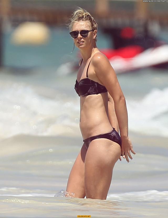 Maria Sharapova The Beach  Babe Bikini Beach Celebrity Beautiful