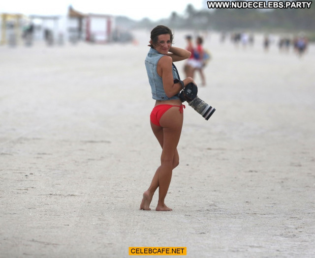 Logan Fazio Miami Beach Babe Posing Hot Celebrity Bikini Beach