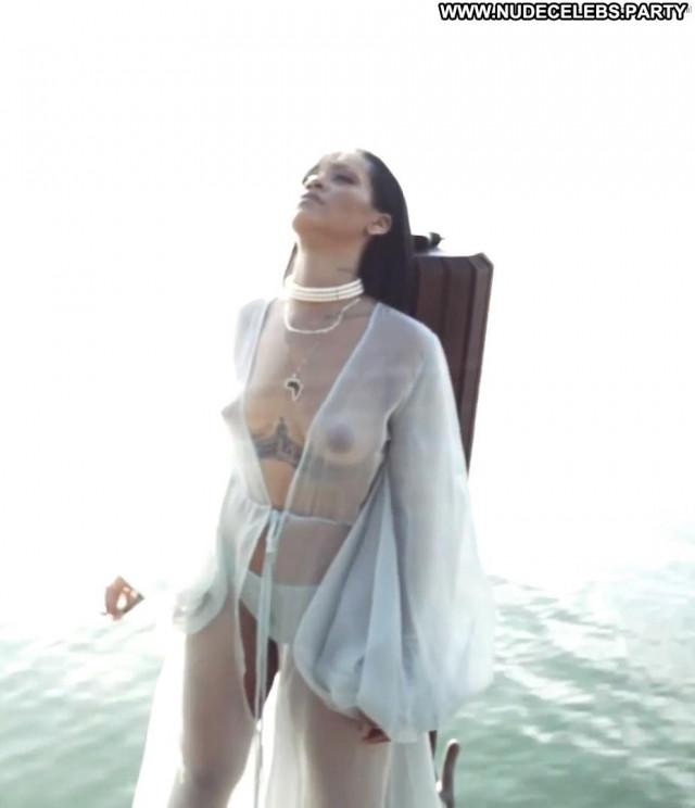 Rihanna The Rig Shy Babe Posing Hot Bar Panties Perfect Nipples