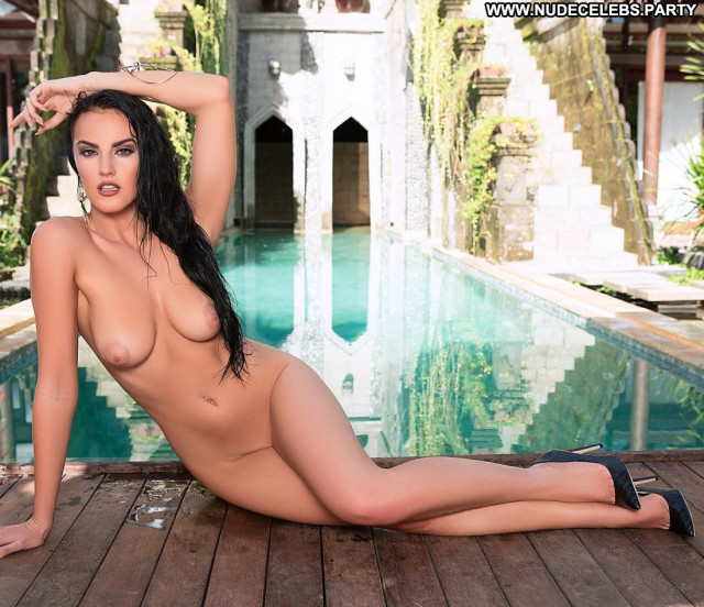Ashleigh Hannah Photo Shoot Poolside Pool Big Tits Celebrity Posing