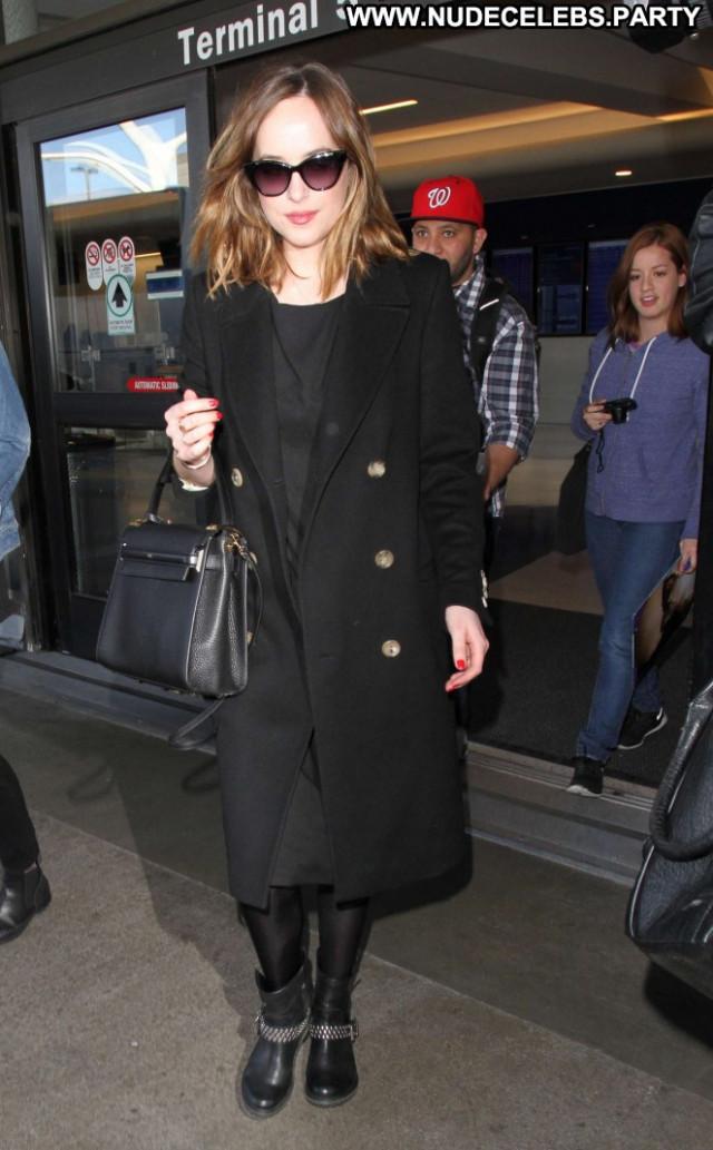 Dakota Johnson Lax Airport Paparazzi Beautiful Celebrity Babe Lax