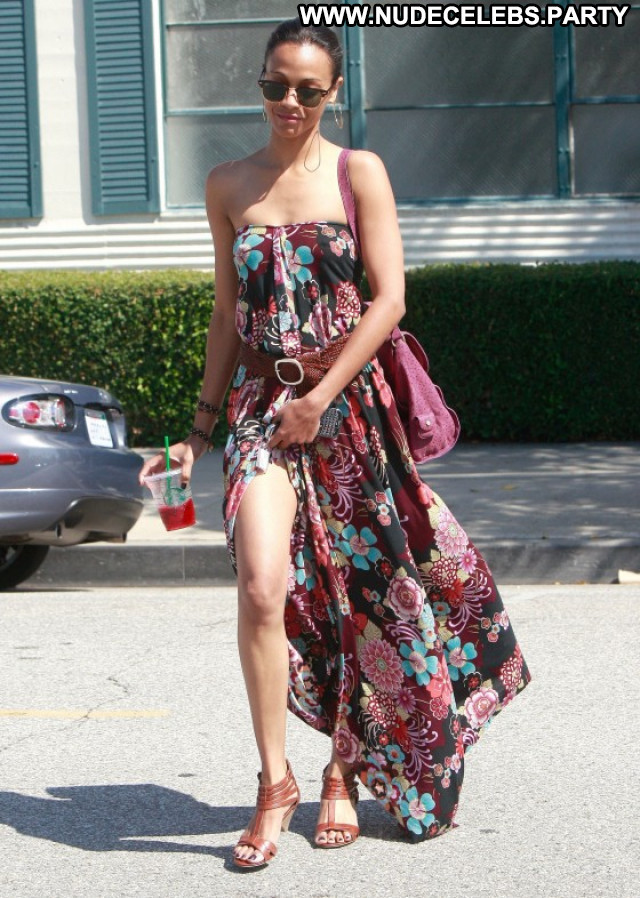 Zoe Saldana Beverly Hills Candids Babe Beautiful Posing Hot Paparazzi