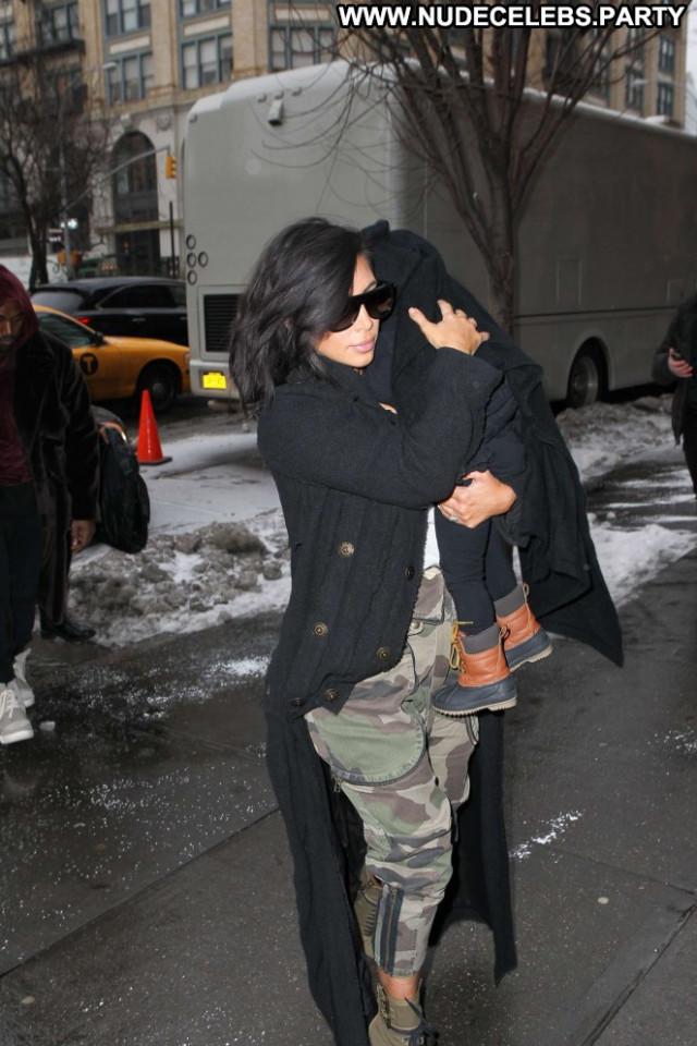 Kim Kardashian New York New York Babe Celebrity Posing Hot Paparazzi