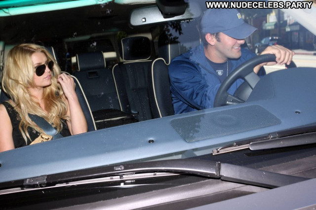 Jessica Simpson Katsuya Restaurant Beautiful Candids Cleavage Candid