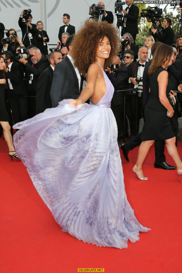 Tina Kunakey Cannes Film Festival Sexy Celebrity Beautiful Cleavage