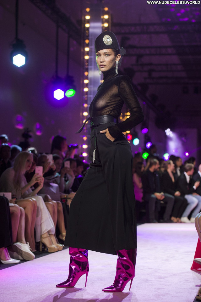 Elsa Hosk Fashion Show Awards Babe Beautiful Bra Celebrity Fashion