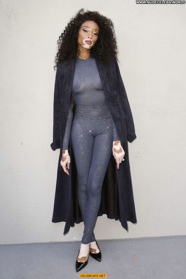Winnie Harlow No Source See Through Posing Hot Beautiful Celebrity
