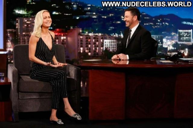 Brie Larson Jimmy Kimmel Live Live Los Angeles Beautiful Paparazzi
