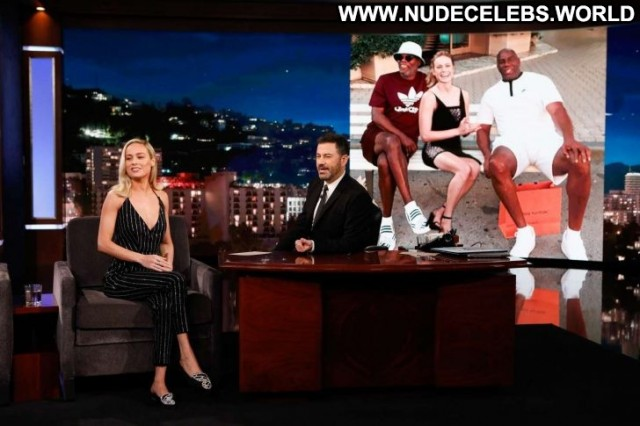 Brie Larson Jimmy Kimmel Live Angel Live Beautiful Paparazzi Los