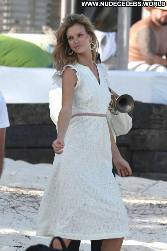 Nadine Leopold The Beach Babe Beach Posing Hot Photoshoot Celebrity