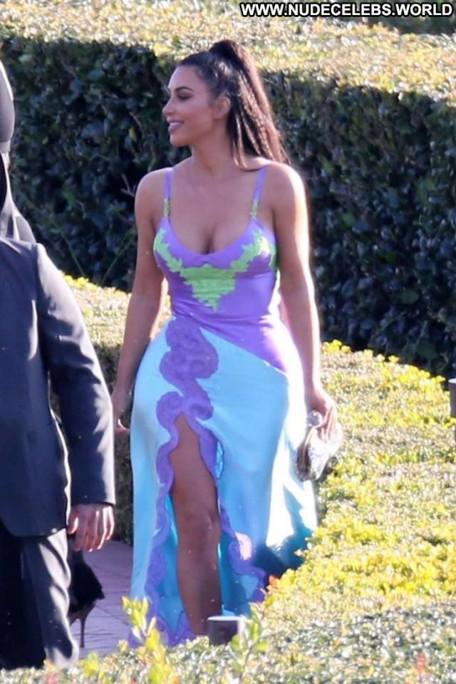 Kim Kardashian The Wedding Celebrity Beautiful Posing Hot Wedding