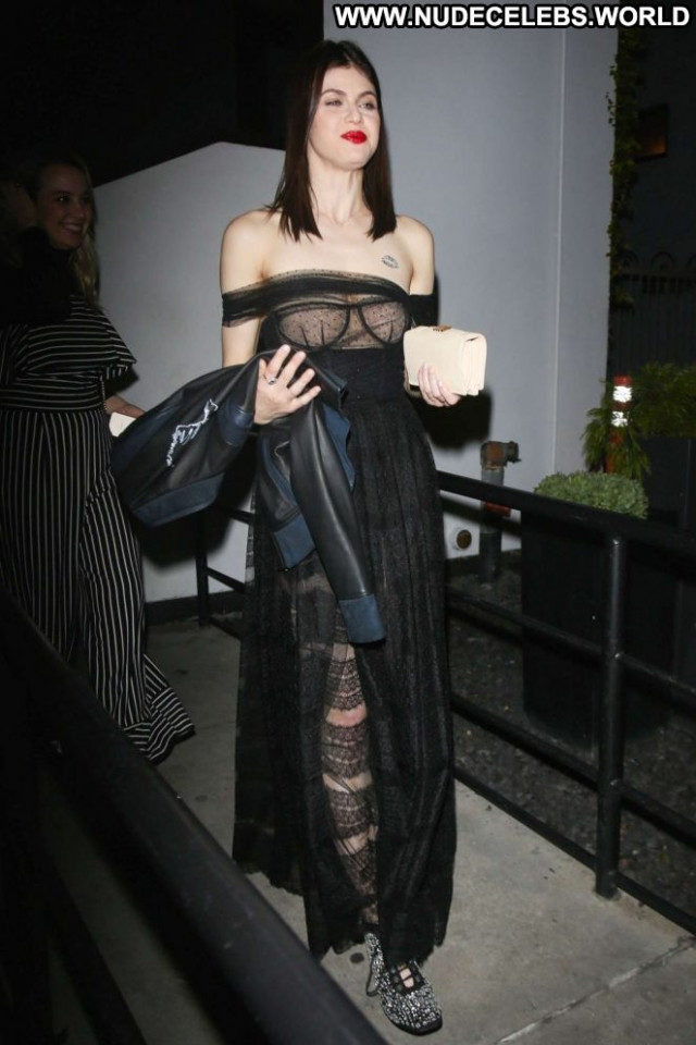 Alexandra Daddario West Hollywood Celebrity Party Posing Hot